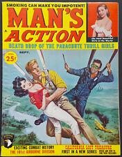 MAN'S ACTION Magazine Sept. 1960 A. Gruerio Cvr GGA Mayan Bondage Girlie Pinup