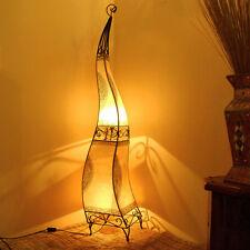 Oriental Lámpara Henna MARROQUÍ de cuero Lámparas pie 160cm blanco