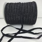 "DIY 5 yards 3/8""10mm Black Sparkle Glitter Velvet Ribbon Headband Craft supplies"