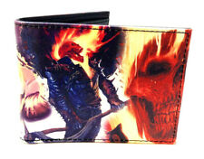 MARVEL COMICS GHOSTRIDER SUBLIMATED GRAPHIC PU FAUX LEATHER MENS BIFOLD WALLET