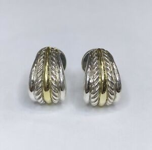 David Yurman 925/18k Cable Collectibles Earrings
