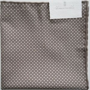 NWT Authentic BRUNELLO CUCINELLI Pocket Square Pochette Handkerchief