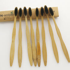 24 Pieces N-amboo Bamboo Toothbrush Soft Black Nylon Bristle For Adult Oral Care