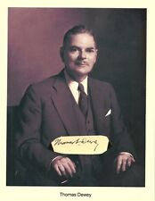 Thomas E Dewey Autograph Governor New York District Attorney Owosso Michigan #4