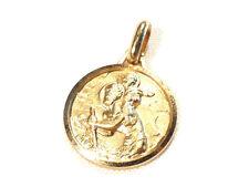 Bijou plaqué or 18 carats  pendentif médaille  St Christophe