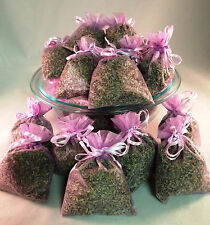 Set of 80 Lavender Sachets made with Orchid Organza Bags