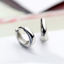 Silver Small Hoop Earrings Women's Fashion Jewelry