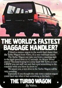 1982 VOLVO TURBO STATION WAGON Car REPLICA METAL SIGN - THE TURBO WAGON