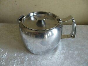 VINTAGE OLD HALL 1.5 STAINLESS STEEL TEA POT RETRO
