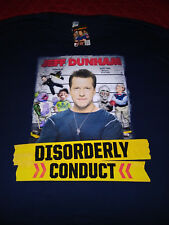 JEFF DUNHAM 3XL DISORDERLY CONDUCT NAVY BLUE TOUR T-SHIRT - NEW NEVER WORN 3XL