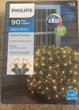 New PHILIPS 90 LED Net Holiday Christmas Lights ~ Warm White