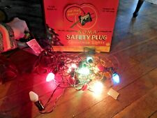 Antique 1940'S Moma Safety Plug 15 Light Chirstmas Lights In Org Box Works