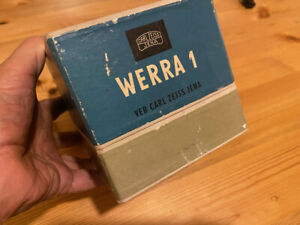Werra 1 35mm Camera with Carl Zeiss Tessar  F2.8 50mm Lens With Box