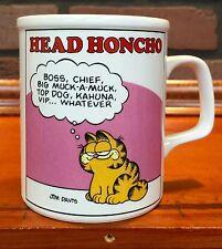 1978 Jim Davis's Garfield Head Honcho Boss Coffee Mug By Enesco Used Stock 446