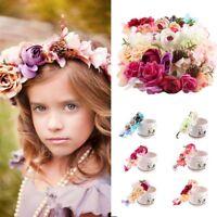 Cute Kids Baby Girls Flower Hair Garland Crown Headband Floral Wreath Hairband