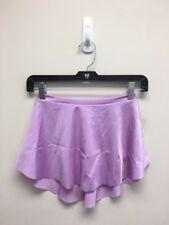 Ballet Dance High Leg Skirt Shiny Orchid Lycra Wrap Look Pull-On Waist 23-26 S