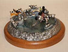 Chilmark deNatura Pewter Disney Comic Capers Crack the Whip Ice Skaters 325/500