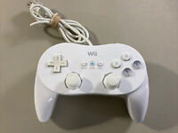 Official Nintendo Wii Pro Controller Classic White RVL-005 OEM TESTED L@@K