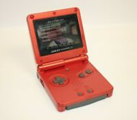 Nintendo Game Boy Advance SP - Red, OEM Battery, No Charger AGS-001 Audio Issue