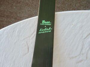 """Bear Kodiak Magnum Recurve Bow 50# AMO 52"""" KU41681"""