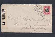 CANAL ZONE 1918, Christobal, Pageubot Cancel with WWI Military Censor, Used