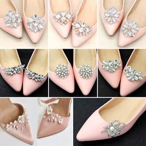 Bride High Heel Shoe Decorations Shoe Clip Shiny Decorative Clips Charm Buckle