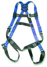 Fall Protection Construction Harness Shock Absorbing Light Weight Roofers Blue