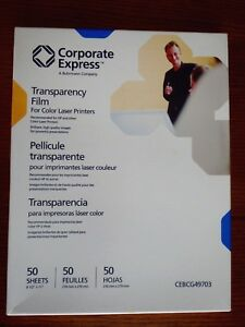 Corporate Express Laser Printer Transparency Film 82 Sheets Projector Crafts