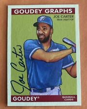 2009 Upper Deck Goudey Graphs Toronto Blue Jays Joe Carter Autograph