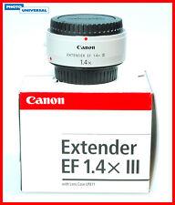 Canon Extender EF 1,4x III expositor estado del distribuidor
