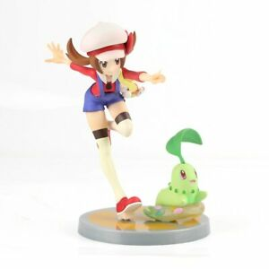 Lyra (Kotone) and Chikorita Pokemon Trainer Collectible Statue Figure Model