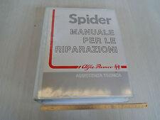 MANUALE ORIGINALE OFFICINA ALFA ROMEO SPIDER 1989 CON SPOILER POSTERIORE
