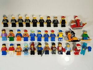 Lego Minifigures Lot Santa Firemen City People +