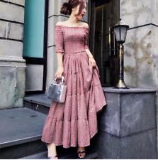 Off the shoulder cotton maxi dress