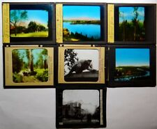 7 Magic Lantern Slides AUSTRALIA Melbourne Lane Cove Sydney Bolganup Toolangi ++