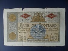 LARGE FORMAT 1958 BANK OF SCOTLAND £20 BANKNOTE CRISP F