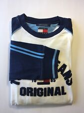 Tommy Hilfiger Men Long Sleeve Shirt Patches Blue White Large