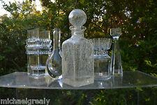 Vetreria Etrusca LABEL Art Glass Decanter Genie Bottle. Italy Murano Retro.