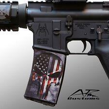 AR Soc Punisher Flag / Mag Sock Mag Wraps fits: Steel/Aluminum USGI AR15 Style
