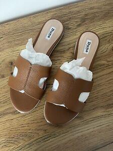 Dune Tan Sandals Size 7