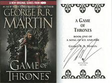 George R.R. Martin SIGNED AUTOGRAPHED Game of Thrones SC HBO Tie In NEW Ice Fire