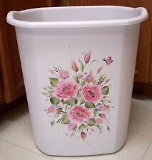 HP ROSES/SHABBY TO CHIC/WASTE PAPER BASKET/NEW ITEM PINK ROSES