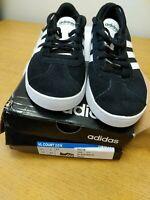 Adidas VL Court 2.0 K Black/ White Junior Size 2 .New But Box Damage