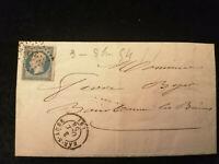 Frankreich 1854 -  Kaiser Napoléon    20 C        Brief von Bar-Sur-Aube
