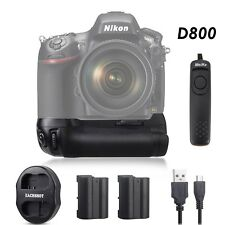 Meike Battery Grip for Nikon D800 D810 as MB-D12 + 2* EN-EL15 + Shutter Release
