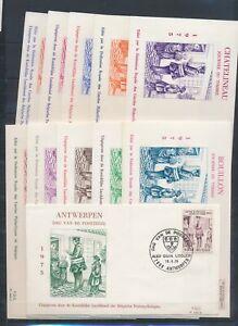 XC76203 Belgium 1975 stamp day postal service FDC's used