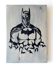 Wall Plaque Batman Handmade Reclaimed Wood Pallet Sign On Driftwood Stain
