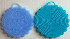 2 Silicone Scrubber Multipurpose Kitchen Scrub Brush for Dish Pot and Vegetables