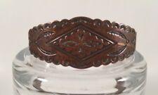 Vintage Solid Copper Cuff Bracelet Stamped Arrows Southwest Tribal Design