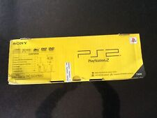PlayStation 2 Slim Charcoal Black Console - New/Rare Sony Sealed (SCPH-75003CB)